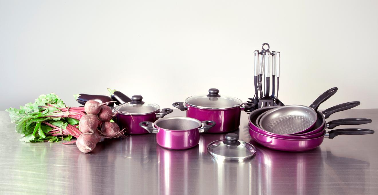 Gris Tefal Batterie De Cuisine Po/êles et Casseroles Reserve Collection 5 pi/èces INOX Tous Feux Dont Induction E475S544